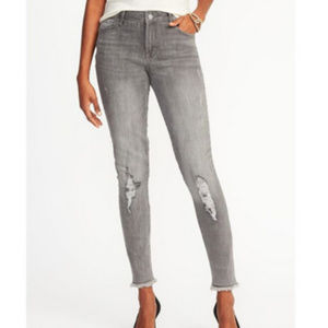 Old Navy - Rockstar Jeans Gray Distressed sz 4